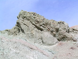 Rainbow Basin - One of the conglomerates making up the Barstow Formation.
