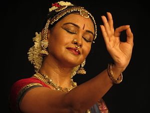 Bharatanatyam - The Varnam part of Bharatanatyam emphasizes expressive dance.
