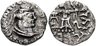 Rajuvula - Image: Rajuvula Northern Satrap with Greek legend and Athena Alkidemos