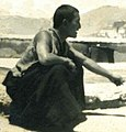 Rakra Tethong Rinpoche on the roof of Tethong house in Banakshol, Lhasa, Tibet in 1950 (cropped).jpg