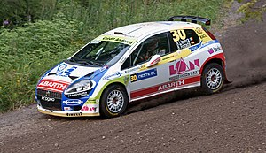 Albert Llovera - Llovera during 2010 Rally Finland.