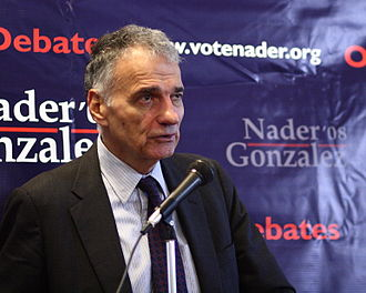 Ralph Nader - Nader campaigning in October 2008