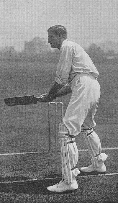 Ranji 1897 page 419 S. M. J. Woods cutting with left foot forward.jpg