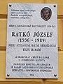 Ratkó József emléktábla, Szent István utca, 2017 Nyíregyháza.jpg