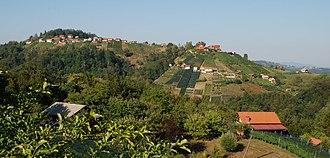 Ravnik, Šentrupert - Image: Ravnik, Šentrupert pogled iz Srasel