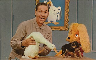 Ray Rayner - Ray Rayner with Chelveston and Cuddly Dudley on Ray Rayner and His Friends.