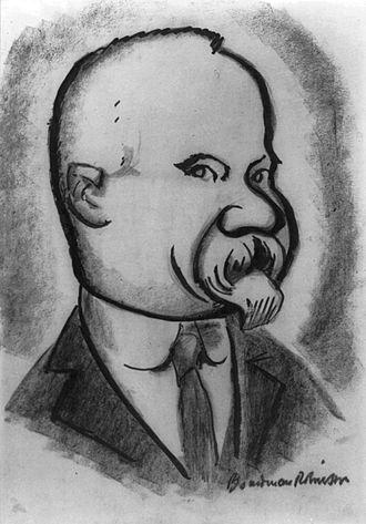 Raymond Poincaré - 1923 caricature of Poincaré