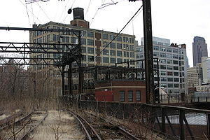 Ninth Street Branch - Abandoned railroad tracks of the Reading Viaduct