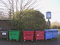 Recycling bins outside the White Hart public house, Cadnam - geograph.org.uk - 92913.jpg