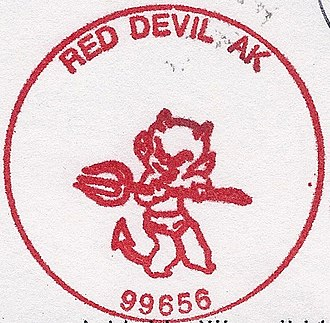 Red Devil, Alaska - Image: Red Devil Alaska postmark