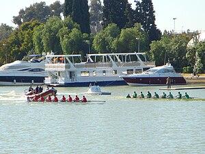 Regata Sevilla-Betis - 2009 edition of the race in front of Club Náutico Sevilla