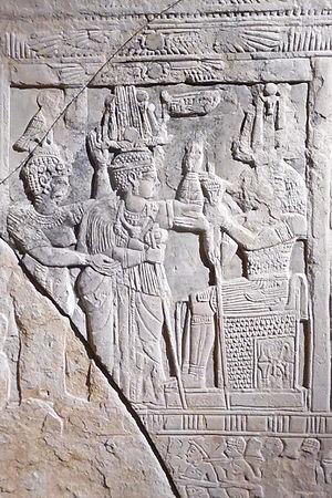 Amanishakheto - Stele of Amanishakheto (center) from the temple of Amun in Naqa