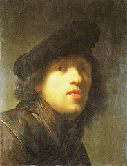 Self-portrait with a Gorget and Beret