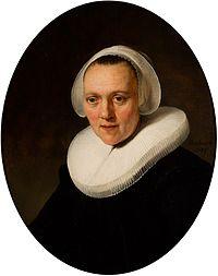 Rembrandt van Rijn Portrait of a Forty-Year-Old Woman, possibly Marretje Cornelisdr. van Grotewal, 1634.jpg