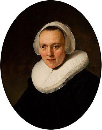 Speed Art Museum - Rembrandt van Rijn Portrait of a Forty-Year-Old Woman, possibly Marretje Cornelisdr. van Grotewal, 1634
