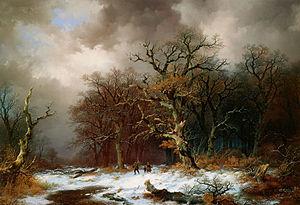Remigius Adrianus Haanen - Image: Remigius van Haanen (1812 1894) Faggot Gatherers in Winter Landscape (Unknown)