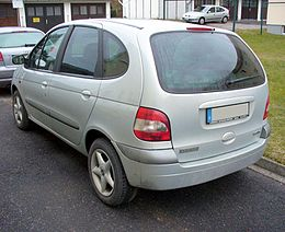 Renault Scénic I Phase II silver Heck.JPG