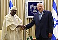 Reuven Rivlin receives the credential of the new ambassador from Nigeria, October 2017 (3729).jpg
