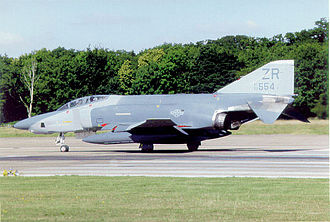 Zweibrücken Air Base - 38th TRS McDonnell Douglas RF-4C-37-MC Phantom 68-0553 in late 1980s Air Superiority Gray motif.