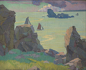 Rhona Haszard - Finistère, 1926, oil on canvas (Te Papa, Wellington)