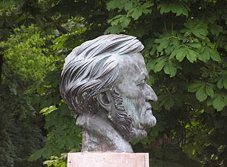 Arno Breker - Bust of Richard Wagner in Bayreuth.