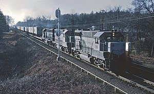 Richmond, Fredericksburg, and Potomac Railroad 116 (GP35) at Doswell, VA on January 12, 1969 (22286471210).jpg
