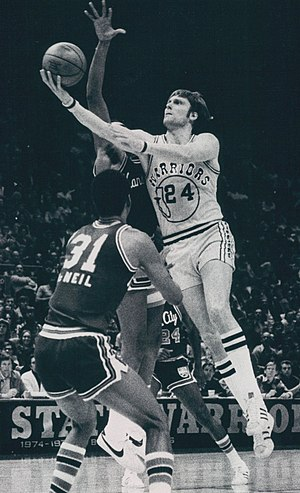 History of the Golden State Warriors - Rick Barry shown in 1976, was named the NBA Finals MVP in 1975.