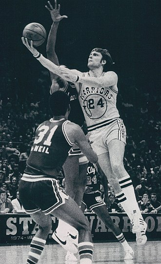 Golden State Warriors - Rick Barry (shown in 1976) was named the NBA Finals MVP in 1975.