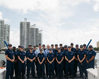 Rick Scott - Scott with the Coast Guard in Miami
