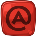 Rie Red-Black Icon Email.png