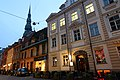 Riga streets and St. Peter's Church spire (23703161025).jpg