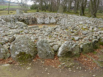 Clava cairn - Ring-type cairn at Balnauran of Clava