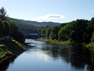 River Tummel river in the United Kingdom