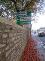 Road sign, Boston Road, Wetherby (30th October 2015).JPG