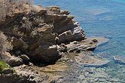 Rocks and sea Karystos Euboea Greece.jpg