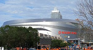 Rogers Place - Rogers Place under construction in August 2016.