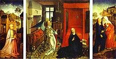 Rogier van der weyden, trittico dell'annunciazione, 1434 circa.JPG