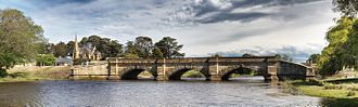 Ross, Tasmania - Ross Bridge with the Uniting Church in the background