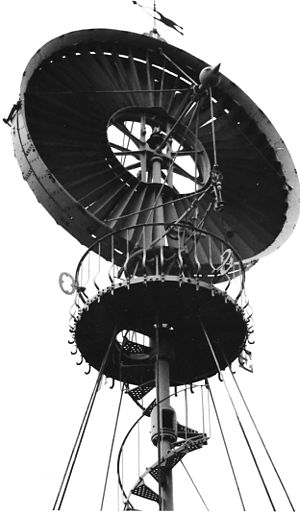 Éolienne Bollée - Close-up view of turbine