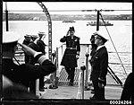 Royal Australian Navy officer boarding USS ASTORIA (8556757112).jpg