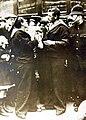 Royal Navy sailor bidding his child goodbye, WWI (30028182240).jpg
