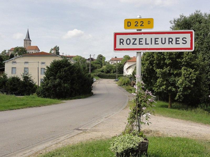 Rozelieures (M-et-M) city limit sign D 22D