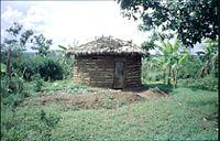 Rundhütte-Lehm-Ruanda