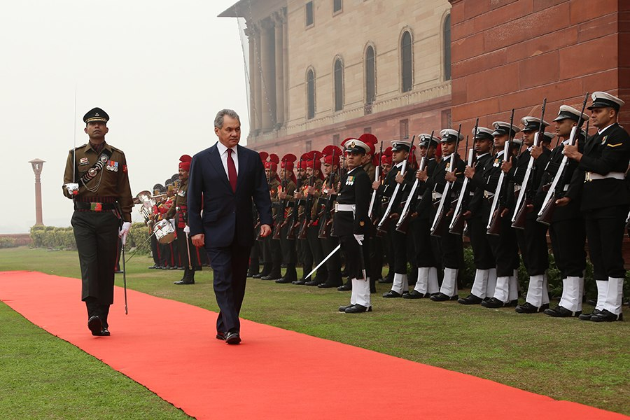 Russian Defence Minister Sergei Shoigu's official visit to India (01)