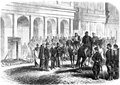 Russian Imperial Army executing Polish January insurgent on Bank Square in Warsaw 1863.PNG