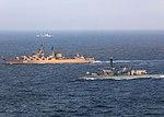 Russian cruiser Marshal Ustinov and HMS St Albans MOD 45165080.jpg