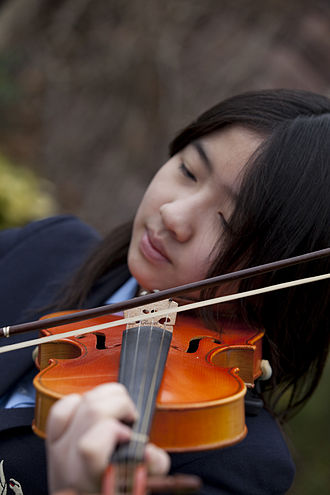 Violin - A young violinist at Ruthin School