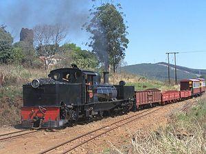 Ixopo - SAR Class NG G11 no. NG55 arriving at Ixopo station