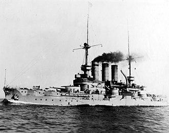 Braunschweig-class battleship - Image: SMS Preussen NH 46833