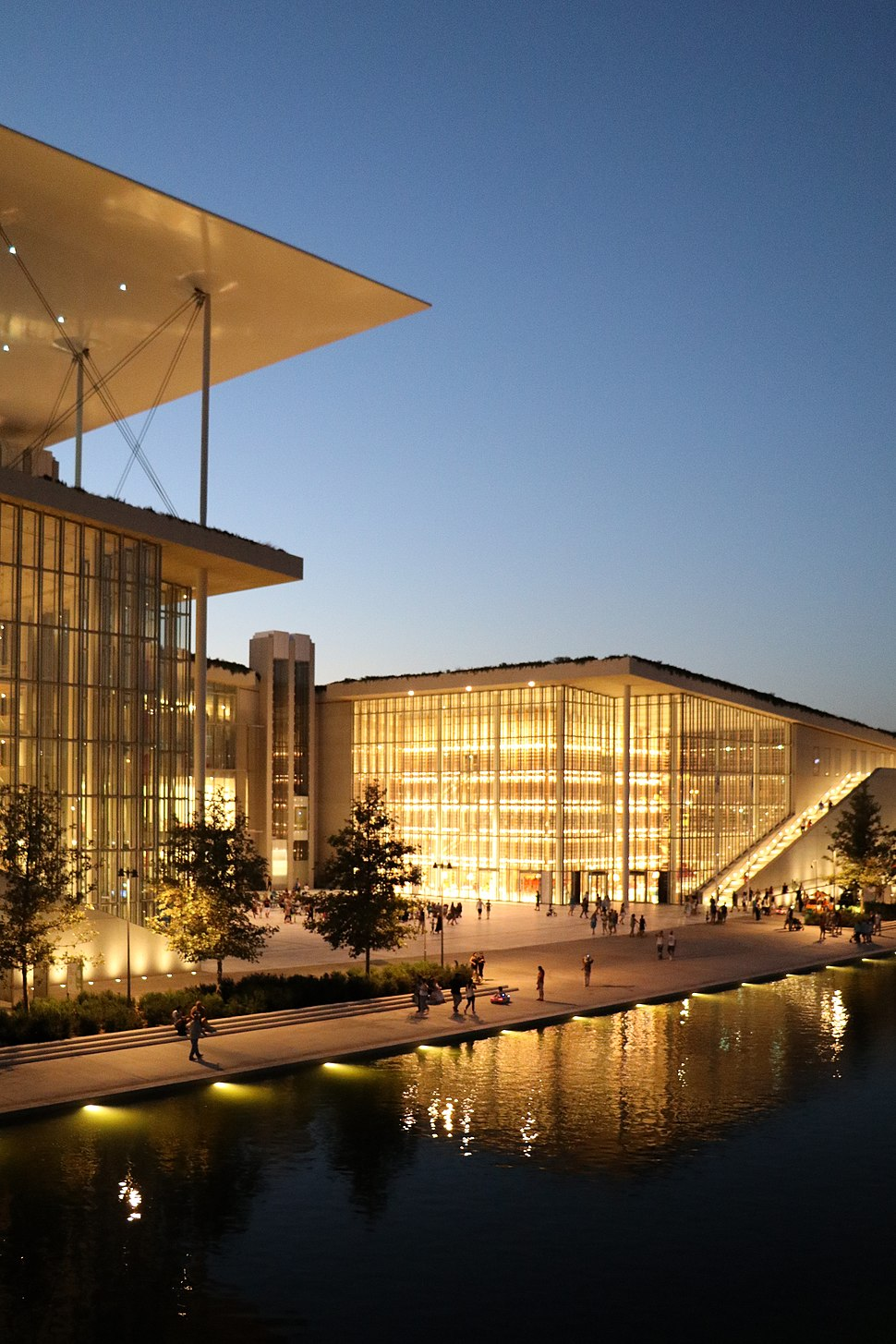 SNFCC at night